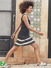 Printed Santorini Dress 3.0 Black/White Stripe NEW $98 XS