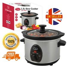1.5L Quest Stainless Steel Slow Cooker Perfect For Stews Hot Pots Curries 120W