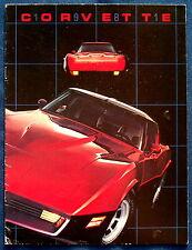 Prospekt brochure 1981 Chevrolet Chevy Corvette (USA)