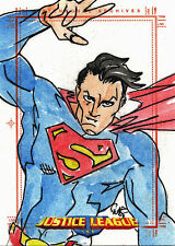 Justice League Archives Sketch Card by Mike Fiorentino of Superman