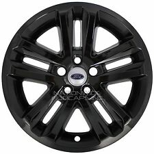 "4 BLACK 2011-2017 Ford EXPLORER 18"" Alloy Wheel Skins Full Rim Covers Hub Caps"