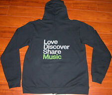 SPOTIFY American Apparel F497 Black Zip Hoodie Sweatshirt Mens L