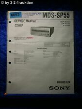 Sony Service Manual MDS SP55 Mini Disc Deck (#6053)