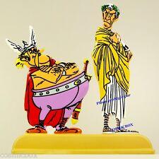 Figurines ASTERIX chez les BELGES archives JULES CESAR & GUEUSELAMBIX en métal