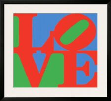 Classic Sky Love Framed Art Poster Print by Robert Indiana, 34x31