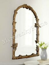 "Large BIRD BRANCH ARCH 37"" Wall Mirror Vanity Mantle Neiman Marcus Tree Natural"