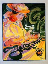 1900's French Cafe Coffee Espresso Food & Wine Advertisement Art Poster Print
