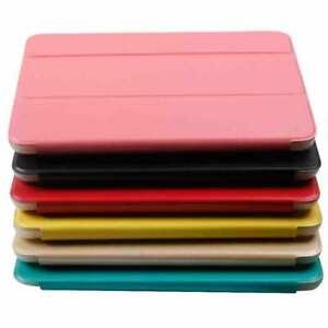 TPU Leather Smart Folio Cover Case Stand w/ Transparent Back for iPad Mini 1 2 3