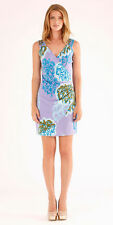 Hale Bob Sleeveless Purple Printed Jersey Summer Dress XS NWT 2PRF6963 *