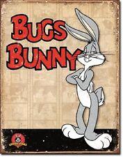 Bugs Bunny Retro Panels Cartoons Tin Sign Wall Poster Decor