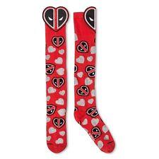 New NWOT Women's 3D Ladies Socks Knee High Deadpool red one size