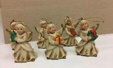 Set of 6 Homco Christmas Angel Ornaments