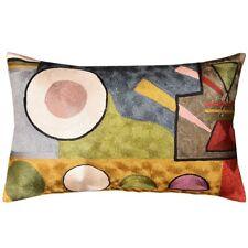 Lumbar Kandinsky Soul Flood Decorative Pillow Cover Silk Hand Embroidered 13 x21