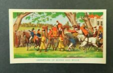c1940 Hoadleys Trade Card Birth of a Nation #11 Departure of Burke and Wills VGC
