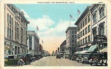 San Bernardino CA~Third Street~Bradley's Cafe~Soda~Candy~Music~Radio~1920s