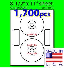 DVDNT, 1,700 CD/DVD Labels, Matte White Laser InkJet