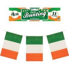 St Patrick Day Ireland Flag Bunting 4metres 11 Flags Luck Of The Irish
