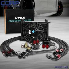 "Universal  28 ROW 10 AN Engine Oil Cooler Kit + Filter Kit + 7 "" Universal Fan"
