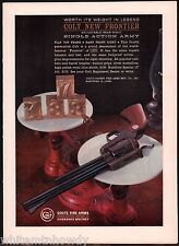 1962 Colt New Frontier Single Action Army Revolver Ad Print Advertisement