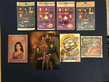 Lot of Star Trek Stickers Amd Greeting Cards Deep Space Nine The Next Generation
