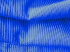 Chunky Cotton Corduroy Fabric Blue - 110cm Wide off the roll - New by Dcf