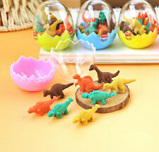 8pcs  Pencil Hot Dinosaur Egg Rubber Eraser Stationery Gift Students Office Mini