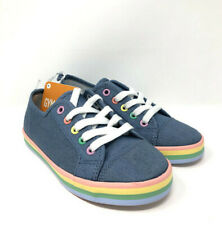 Gymboree Girls 13 Chambray Pastel Rainbow Tennis Shoes New