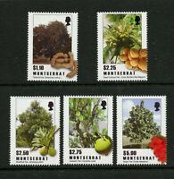 Trees Fruit set of 5 mnh stamps 2009 Montserrat #1227-31