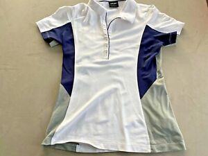 Galvin Green Damen Golf Polohemd Medium Weiß/Marineblau/Grau - Gebraucht