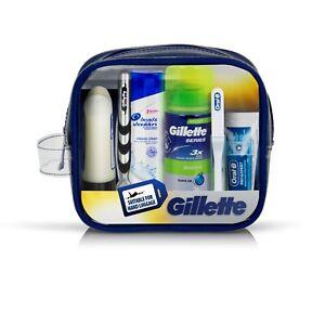 Gillette Travel Set Mach 3 Razor + Shave Gel + Oral Care + Hair Care