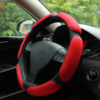 "38cm 14.9/"" Black+Blue Eva Foam Sport Soft Car Steering Wheel Cover Cap Anti-slip"