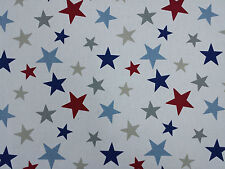 Marson Funky Stars Blue Red DESIGNER Curtains Blinds Craft Upholstery Fabric