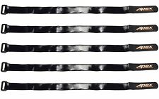 Apex RC Products 20mm X 400mm HD Rubberized Battery Straps - 5 Pack #3032