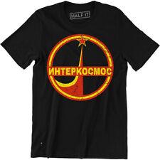 NHTEPKOCMOC Mens Soviet Union T-Shirt USSR Space Rocket Program Russia Communism