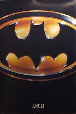 Batman 27x40 Advance Movie Poster 1989 Jack Nicholson •Michael Keaton