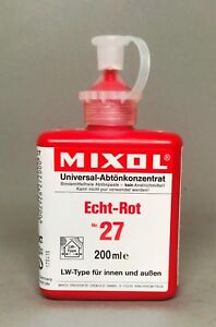 Mixol #27 FAST RED (Exterior) Universal Tint 200ml Bottle