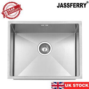 JASSFERRY 1.2mm Premium Handmade Undermount Stainless Steel Kitchen Sink 1 Bowl