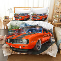 3D Modern Cartoon Car Quilt Cover Set Bedding Duvet Cover Single/Queen/King 159