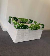 BRAND NEW Hamper Storage Wicker Basket White Lining Gift Home Decor Bathroom