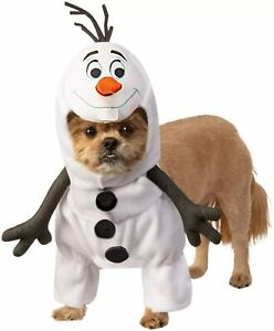Olaf Disney Frozen II Snowman Fancy Dress Up Halloween Pet Dog Cat Costume