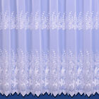 Vienna Top Quality Woven Embroidered Voile Net Curtain - With Overlocked Sides