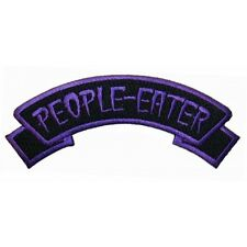 """""""People Eater"""" Tag Zombie Horror Kreepsville Embroidered Iron On Applique Patch"""