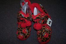 Sesame Street Elmo Women's/Teens Slippers NEW with Hanger 5-6 S Red w/ Tassles