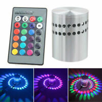 3W Wall light RGB Spiral Coulor Changing with Remote Controller Lamp LED Bulb