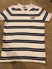 Mens Blue Striped Hollister Shirt Size Small
