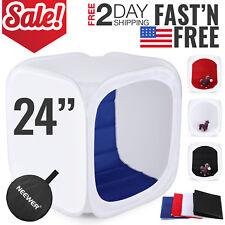 """Photo Light Box Studio Photography Lighting Kit Softbox Tent Portable Mini 24"""""""
