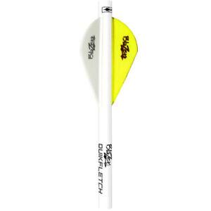 Bohning Blazer QuikFletch Shrink Quik True Fletch Yellow White 6pk #20042 Arrow