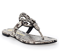 NIB Tory Burch MILLER Leather Thong Sandal 75286 Warm Roccia SZS 6-10 AUTHENTIC