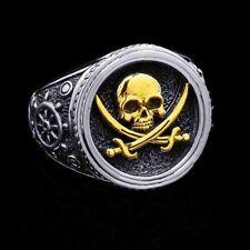 Warrior Skull Ring Lssed Men's Fashion Retro Punk Pirate