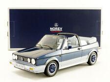 Norev 1992 Volkswagen Golf Cabrio Bel Air Blue Metallic 1/18 Scale New! In Stock